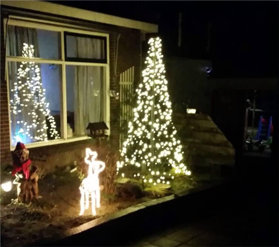 kerstboom, staalkabel,