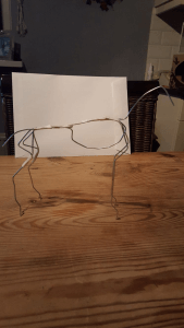 skelet-boetseerhobby ijzerdraad