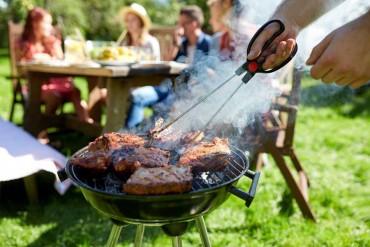 BBQ ophangen staalkabel