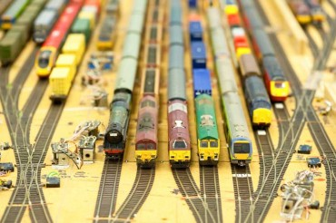modelbouw treinplaat hijsen